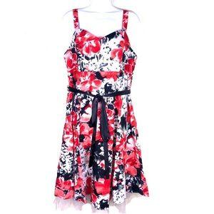 Dress Barn Sleeveless Flowered Dress Sz 16